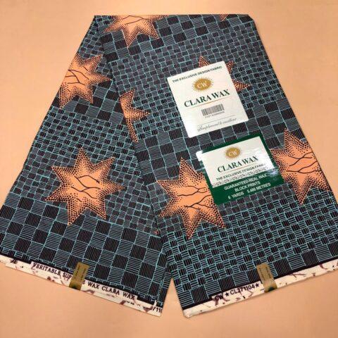 Clara Wax Holland Exclusive Design Fabric 6yards 5.486 meters